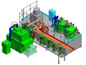3D view Reverse Flow Filtration Plant