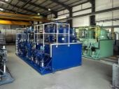 Reverse flow filtration plants