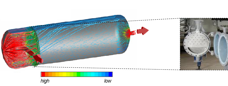 Flow direction in PTG Phase Separator